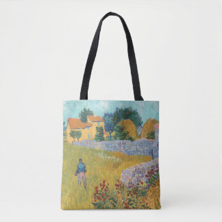 Restored Farmhouse in Provence by Van Gogh Tote Bag