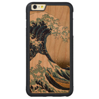 Restored Great Wave off Kanagawa by Hokusai Carved Cherry iPhone 6 Plus Bumper Case