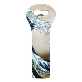Restored Great Wave off Kanagawa by Hokusai Wine Bag