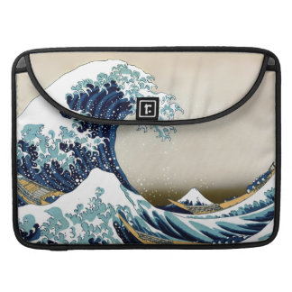 Restored Great Wave off Kanagawa by Sleeve For MacBooks