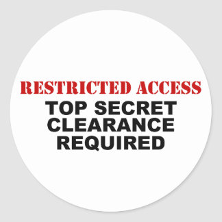 Restricted Access Classic Round Sticker