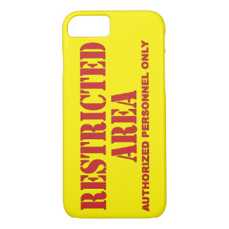 Restricted Area iPhone 7 Case