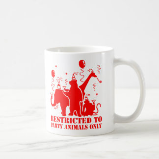 Restricted to party animals only classic white coffee mug