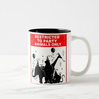 Restricted to party animals only Two-Tone mug