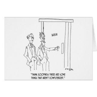 Restroom Cartoon 1306 Card