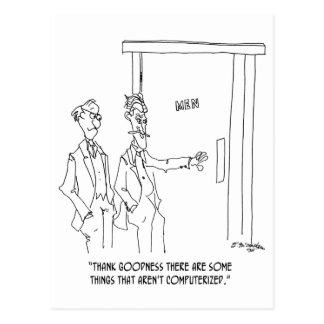 Restroom Cartoon 1306 Postcard
