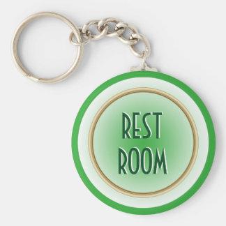 Restroom Green Keychain