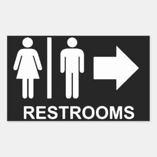 Restroom sign arrow sticker