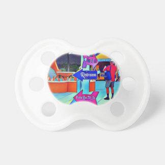 Restrooms That Way Digital pop art Baby Pacifiers
