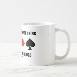 Restructure How You Think Play Duplicate Bridge Basic White Mug