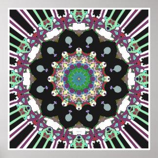 Résumé géométrique concentrique poster