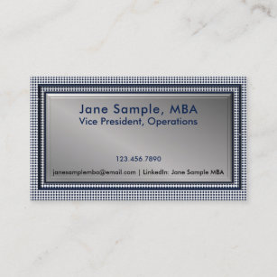 Mba business cards profile cards zazzle ca rsum networking business cards blue check reheart Image collections