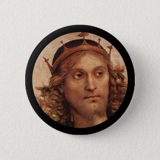Resurrected Jesus in Crown 2 Inch Round Button