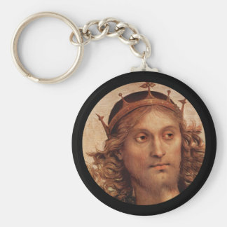 Resurrected Jesus in Golden Crown Keychain