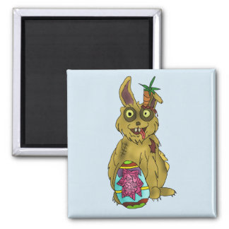 Resurrection Bunny Square Magnet