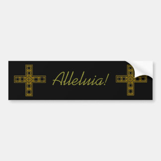 Resurrection Cross Bumper Sticker