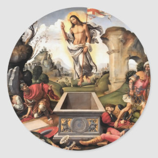 Resurrection of Christ Round Sticker