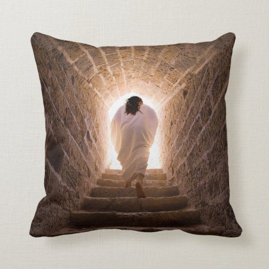 Resurrection of Jesus Chist Throw Pillow