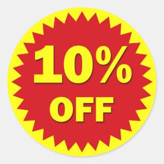 RETAIL BADGE - 10% OFF CLASSIC ROUND STICKER