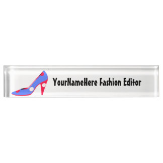 Retail Fashion Shoe Design Nameplate