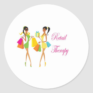 Retail Therapy Classic Round Sticker