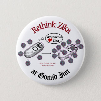 Rethink Zika Button by RoseWrites
