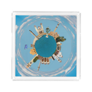 Rethymno city Greece little tiny planet landmark a Perfume Tray