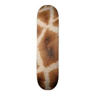 Reticulated Giraffe Pattern Wild Animal Print Gift Skateboard Decks