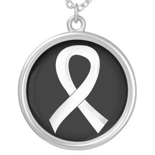 Retinoblastoma White Ribbon 3 Jewelry
