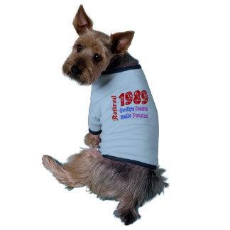 Retiré 1989 au revoir pension de tension bonjour manteaux pour animaux domestiques