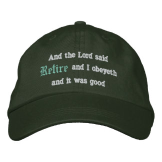 Retire Embroidered Hat