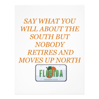 Retire to Florida and the South Personalized Letterhead