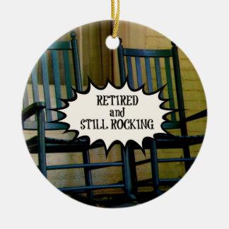 Retired and Still Rocking custom ornament