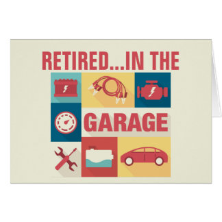 Retired Auto Mechanic Car Repairman Card