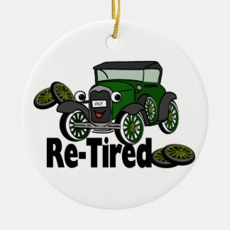 ReTired Automobile Ceramic Ornament