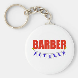 RETIRED BARBER KEYCHAIN