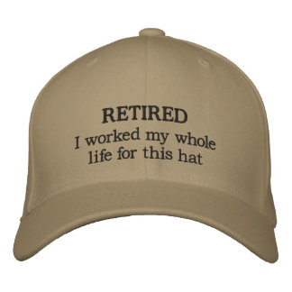 Retired Baseball Cap