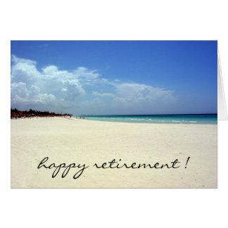 retired beach greeting card