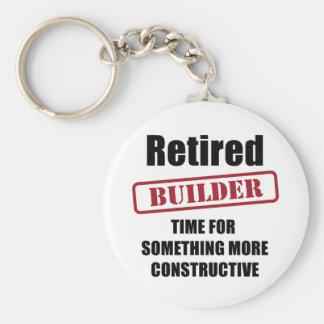 Retired Builder Basic Round Button Keychain