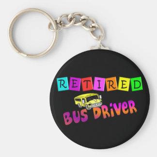 Retired Bus Driver Gifts Basic Round Button Keychain