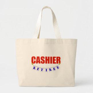 RETIRED CASHIER LARGE TOTE BAG