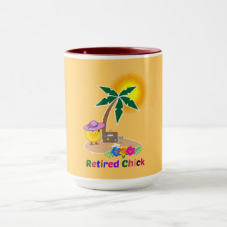 Retired Chick on Vacation Mug