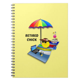 Retired Chick--She's So Cute Notebooks