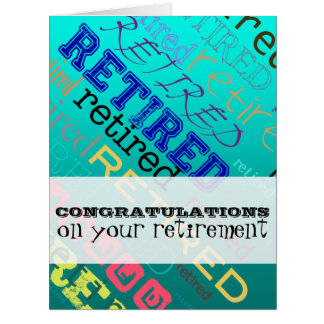 Retired Congratulations on Retirement 2 Big Card