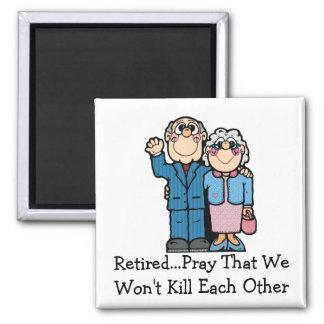 Retired Couple Magnet