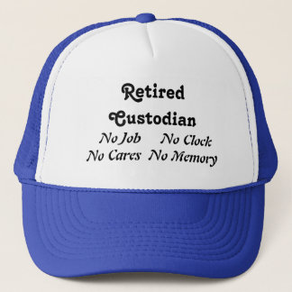 Retired Custodian Trucker Hat