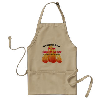 Retired Dad or Any Name Here - BBQ - Standard Apron