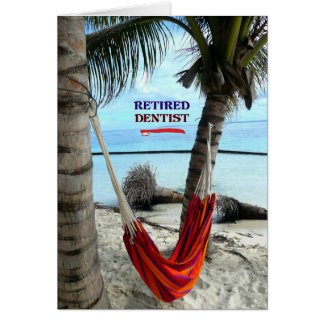 Retired Dentist, Hammock under the Palm Trees Card