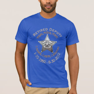 Retired Deputy Sheriff Star VVV Shirt