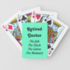 Retired Doctor Bicycle Playing Cards